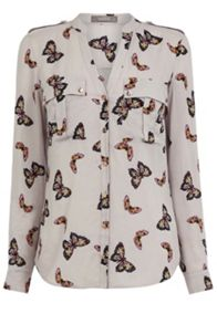 Oasis Butterfly Viscose Shirt