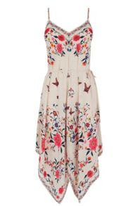 Oasis La Havana Hanky Hem Dress