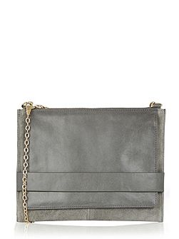 Lucia Leather Clutch X Body