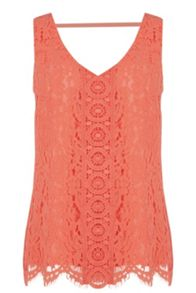 Oasis Lace V Front V Back Top