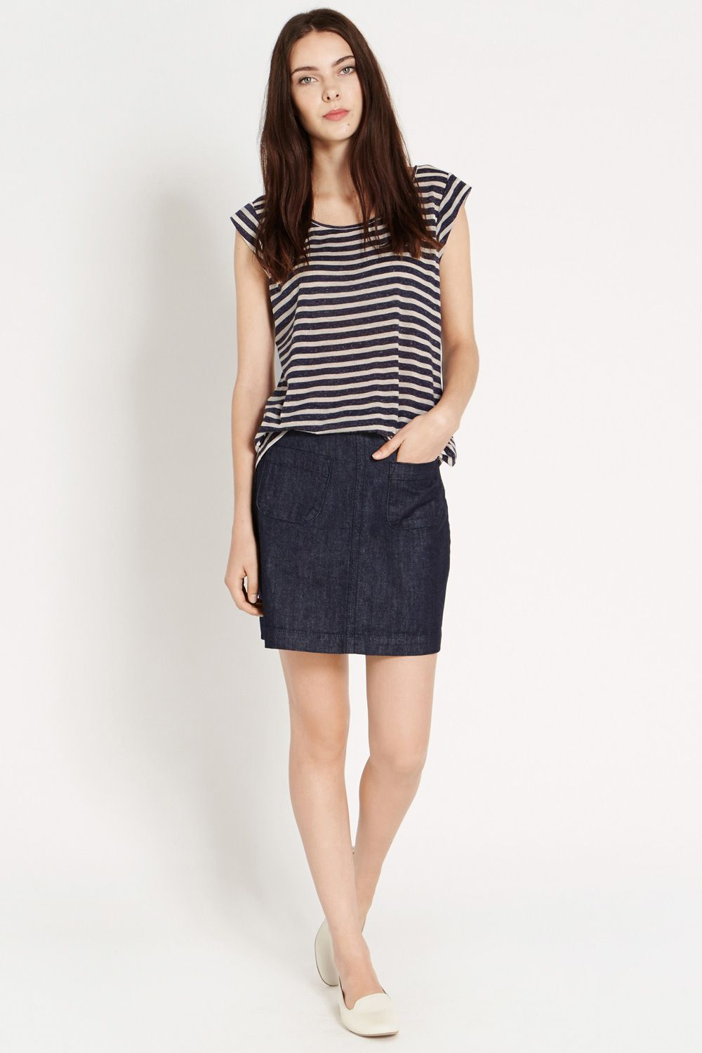 Stripe Tail Back T-Shirt