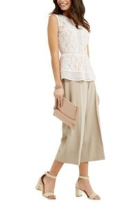 Oasis Lace Peplum Top