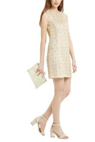 Oasis Metallic Lace Shift Dress