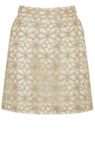 Oasis Metallic Lace Mini Skirt