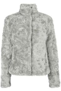 Short Twisty Faux Fur Coat