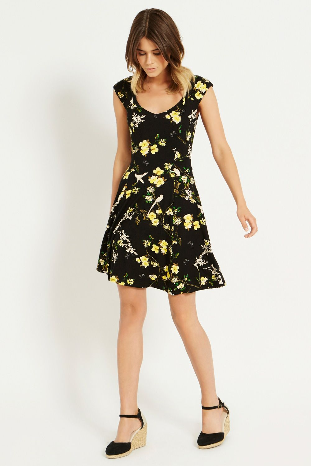 Bird and Butterfly Flippy Dress