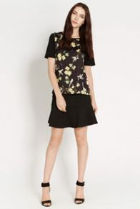 Bird and Butterfly Woven Front T-shirt