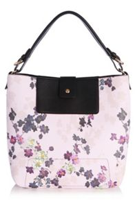 Holly shadow floral hobo bag