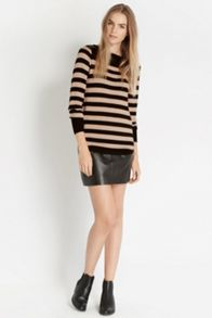 Pu Stripe Block Top