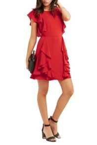 Oasis Side Frill Skater Dress
