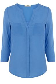 Tipped Woven Front Shirt