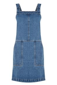 Oasis Darcy Denim Dungaree Dress