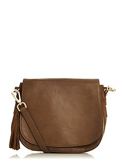 Leather Eda Saddle Bag