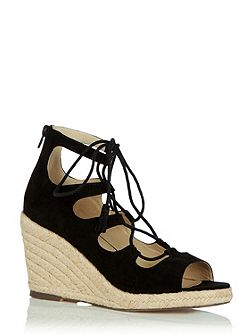 Libby Lace Up Espadrille Wedge