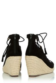 Oasis Libby Lace Up Espadrille Wedge
