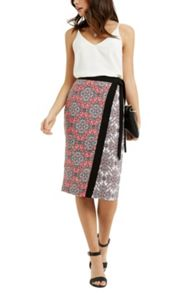 Oasis Sintra Tile Wrap Pencil Skirt