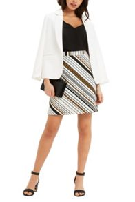 Oasis Saffron Stripe Hattie Skirt