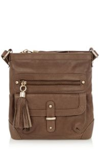 Leather Suede Lucy Cross Body bag