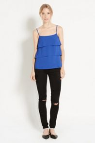Plain tiered camisole