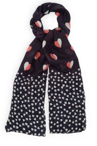 Oasis Heart Print Scarf