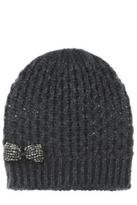Beaded Bow Beanie