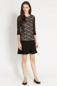 Sheer Sleeve Lace Top