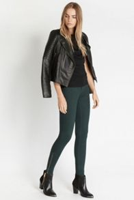 Sheer and Faux Leather Top