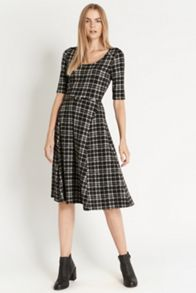 Tartan Check Midi Dress