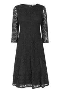 Baroque Lace Midi Dress