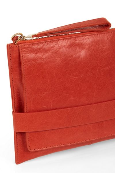 Oasis Lucia Leather Clutch X Body