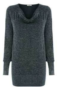 Lurex Cowl Neck Top