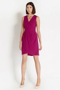 Caitlin Drape Crepe Dress