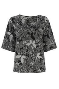 Butterfly Jacquard Drop Sleeve