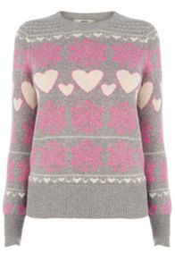 Heart And Snowflake Xmas Jumper