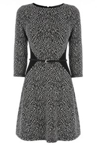 Textured flippy dress