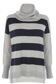 Stripe Cowl Neck Top