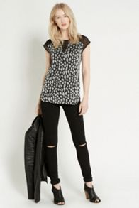 Sparkle Animal Sheer Top