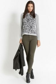 Animal jacquard sweater
