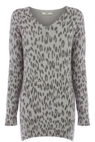 Animal V Neck Jumper