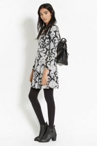 Paisley Jacquard Skater Dress
