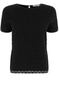 Broderie front t shirt