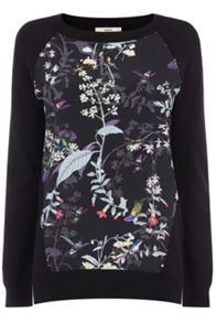 Woven front hummingbird april top