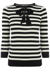 Belle bow stripe top