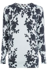 Shadow Floral Longer Length Jumper