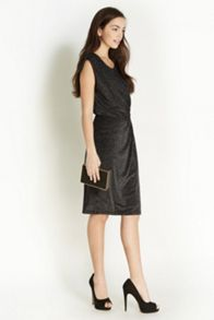 Lurex Drape Dress