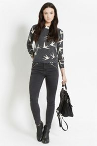 Printed swallow jumper