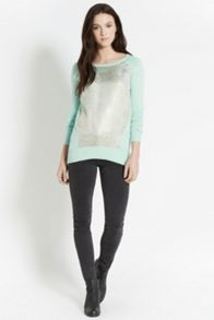 Animal jacquard front top
