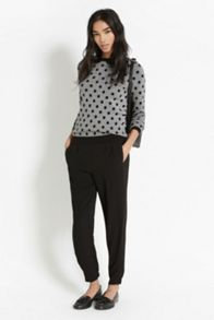 Spot pu collar top