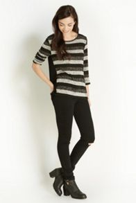 Lurex Stripe Insert Sweater