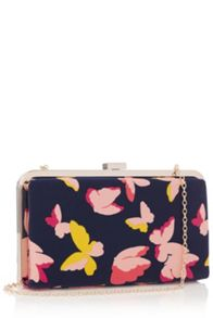 Butterfly ruby clutch bag